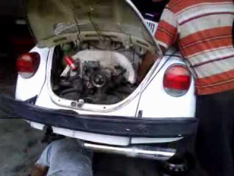 Desinstalación de motor de Vocho - VW Bug Engine Removal ...