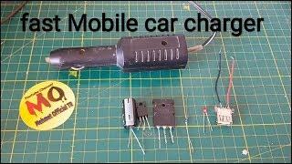 Araç için hızlı mobil şarj cihazı nasıl yapılır fast mobile phone car charger