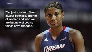 Angel McCoughtry, formerly with Atlanta Dream, reacts to Senator Kelly Loeffler's Black Lives M