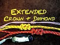 Two Strand Extended Crown and Diamond Knot or Long Crown and Diamond Knot - How to Tie