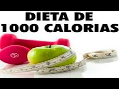 Dieta de 1000 calorías para la pérdida de peso efectiva.