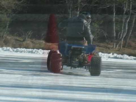 Banshee Ice Racing In Waterboro Maine Predator Atc 250r Kfx400 Mike Abbott