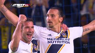 Zlatan Ibrahimović scores twice for LA Galaxy in win vs Real Salt Lake