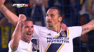 Zlatan Ibrahimović scores twice for LA Galaxy in win vs Real Salt Lake