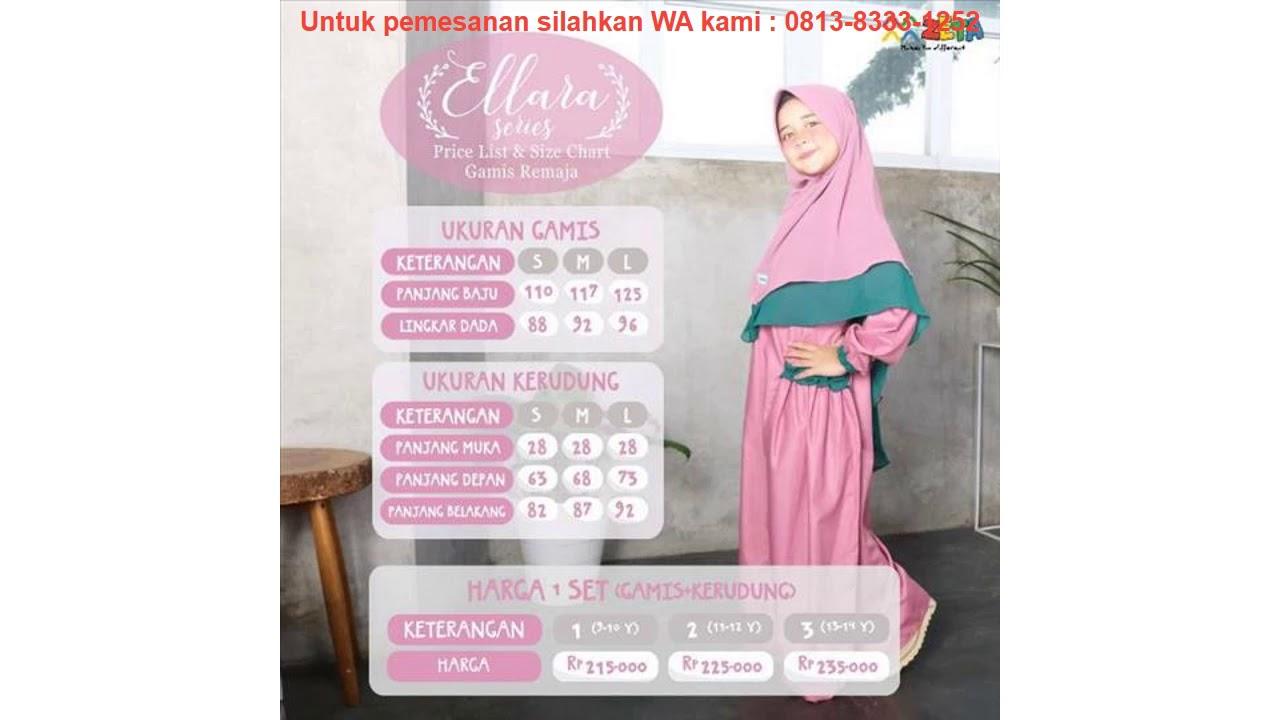 Murah Zeta Outfit Ready Stock Gamis Anak Remaja Ellara Series Gam Youtube