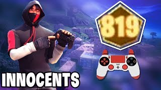 Innocents Gets 819 Points (Best Controller Player!) | GodLike Fortnite