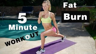 5 Minute Fat Burning Workout #118 - No Equipment Needed!