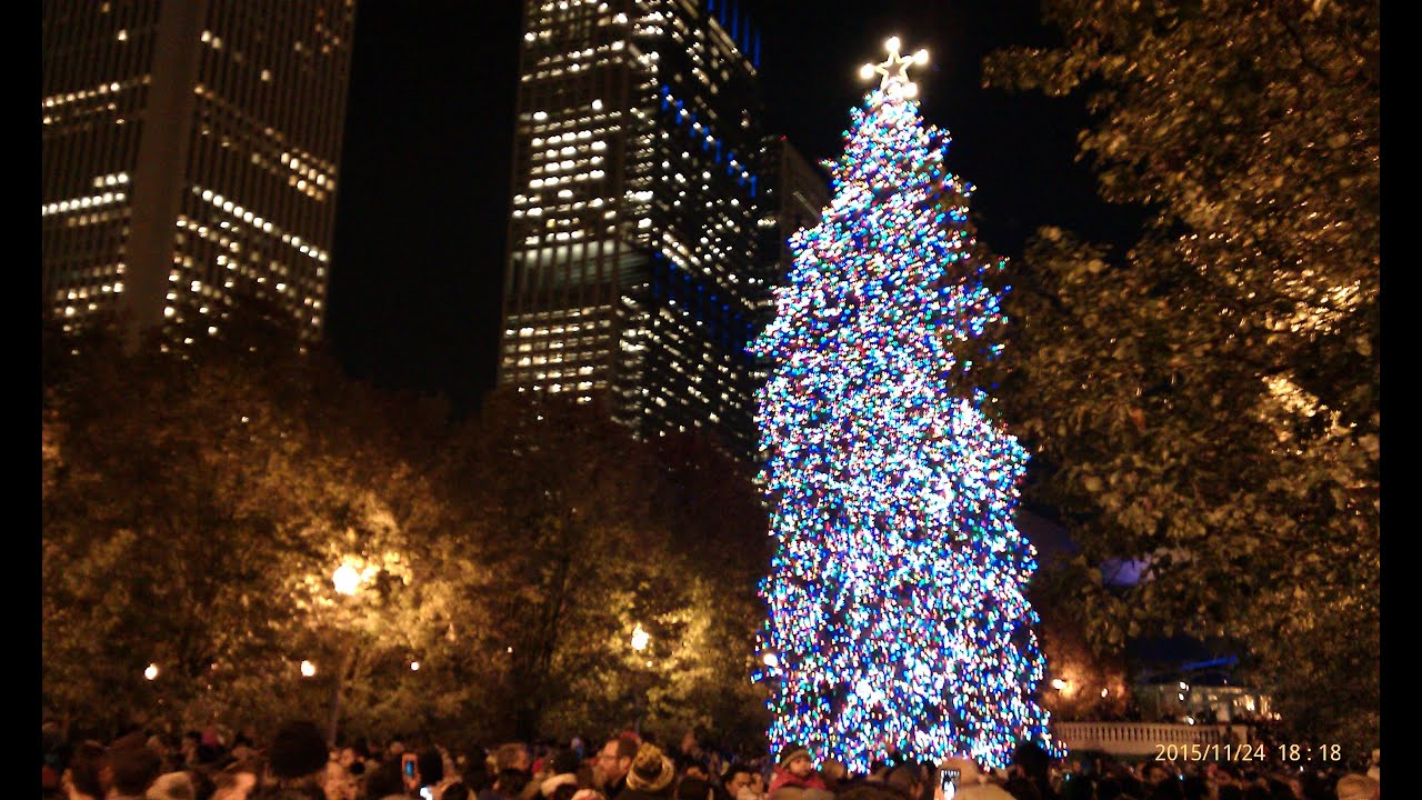 tree lighting ceremony millennium park chicago november 24 2015