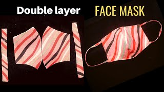 New Style Pattern Mask Double Layer Face Mask How to make Face Mask at Home sewing tutorial