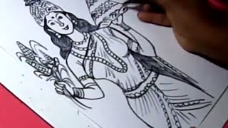 How to Draw TELANGANA TALLI DRAWING for kids