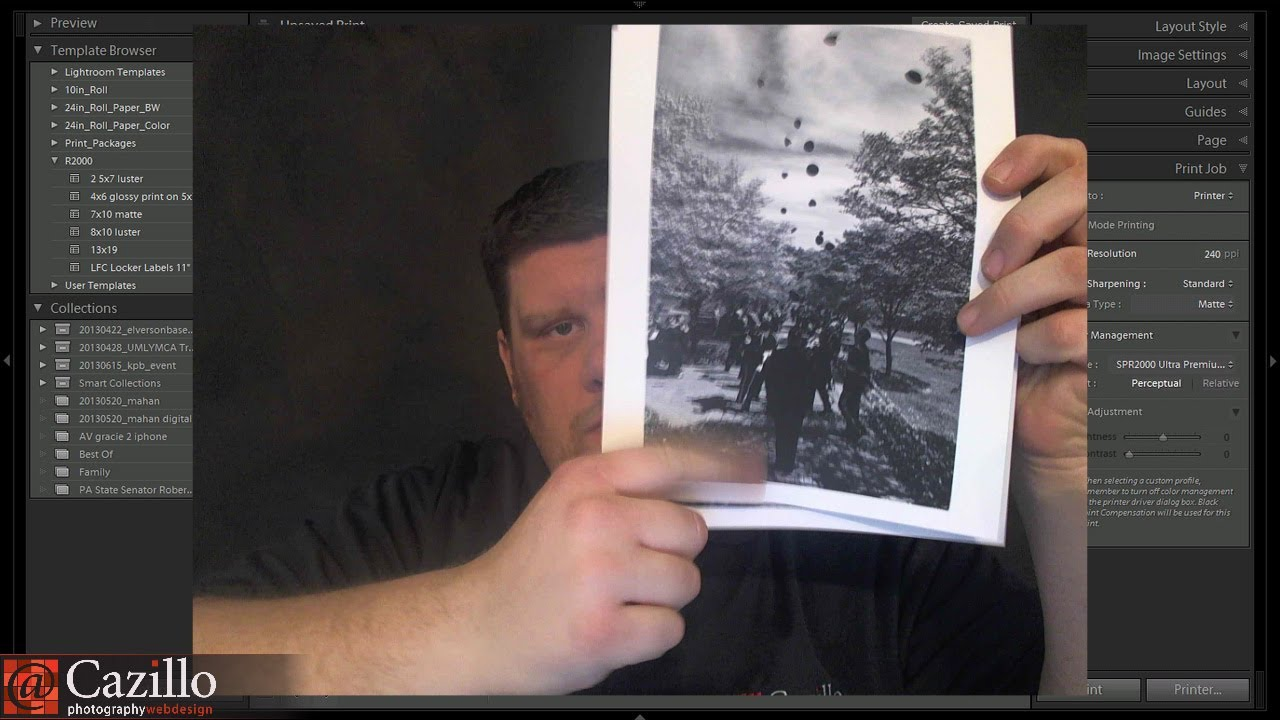 How to edit and print black and white photos photography tutorial youtube