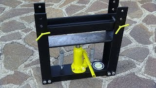 Make a Hydraulic Press - Diy Tools