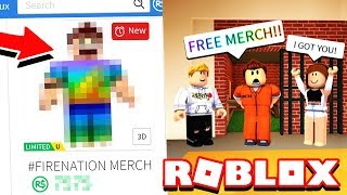 IF YOU ARREST ME, I GIVE YOU NEW #FIRENATION MERCH! Roblox Jailbreak