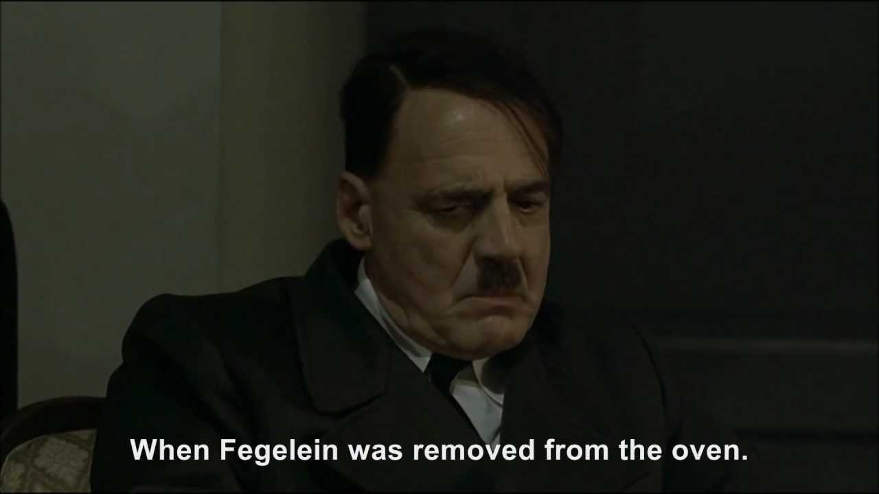 Hitler is informed Göring has failed to eat Fegelein