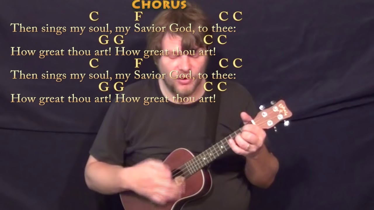 How great thou art hymn ukulele cover lesson in c with chords how great thou art hymn ukulele cover lesson in c with chordslyrics hexwebz Gallery