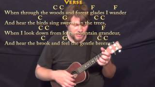 How Great Thou Art (Hymn) Ukulele Cover Lesson in C with Chords/Lyrics