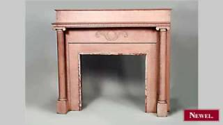 Antique American Country Style Stripped Fireplace Mantel