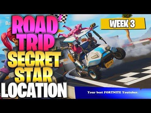 "Fortnite Battle Royale Season 5 Week 3 Secret Battlestar Location (""Road Trip"" Challenges)"