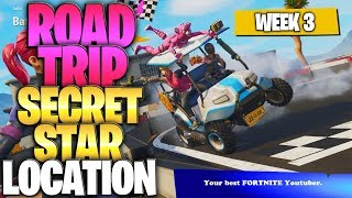"Fortnite Battle Royale Saison 5 Semaine 3 Secret Battlestar Emplacement (""Road Trip"" Challenges)"