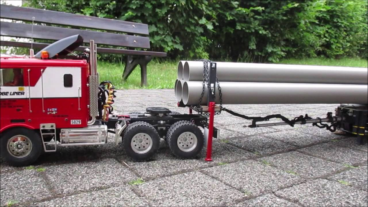 tamiya rungen teleskop auflieger st tzen gefertigt und getestet youtube. Black Bedroom Furniture Sets. Home Design Ideas