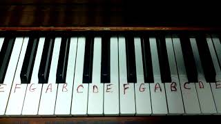 SHENANDOAH How to play easy piano keyboard melody tutorial tutor free lesson