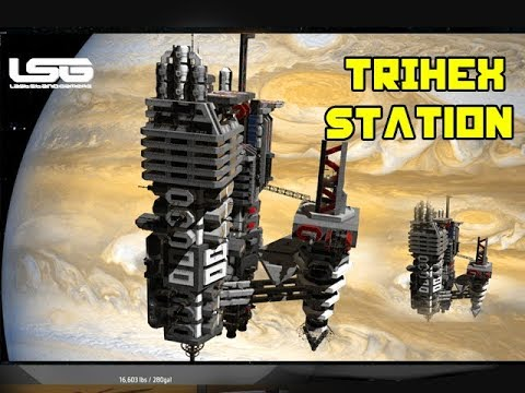 space engineers massive station trihex outpost youtube. Black Bedroom Furniture Sets. Home Design Ideas