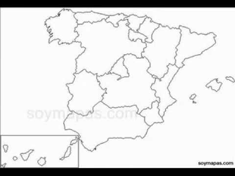 Mapa Mudo Provincias España.Mapa Mudo De Espana Dividido Por Provincias Youtube