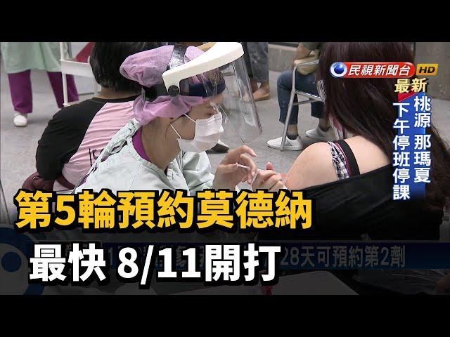 第5輪預約莫德納 最快 8/11開打-民視台語新聞