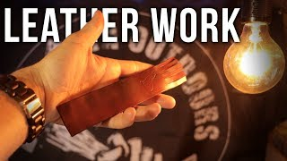 Leatherwork for Beginners | Leather Craft | How To | Basic Skills (Tutorial)