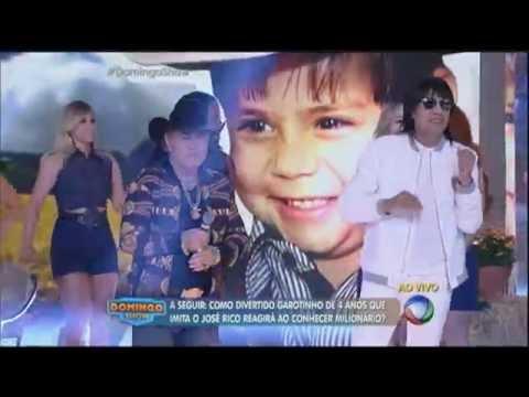Milionário e José Rico cantam seus sucessos no palco do Domingo Show