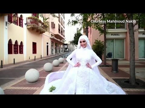 Beirut explosion rocks bride's photoshoot