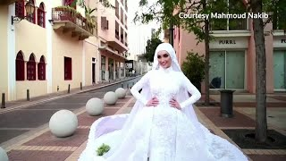 Beirut explosion rocks bride's photoshoot