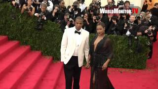 beyonce knowles jay z arrive at met gala beyond fashion costume institute gala 2014