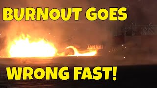 Crazy Burnout Goes Horribly Wrong Fast | Drift Nights
