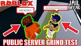 PUBLIC SERVER vs VIP SERVER | Roblox Jailbreak 30 Minute Grinding Test