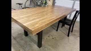 Custom Walnut & Steel Dining Table