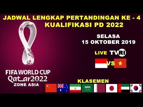 JADWAL LENGKAP PERTANDINGAN KE 4 KUALIFIKASI PIALA DUNIA 2022 ZONA ASIA   FIFA WORLD CUP 2022