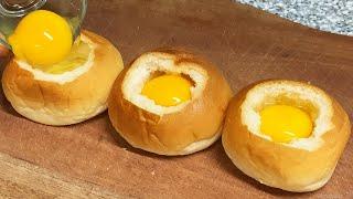 모닝빵요리 : 모닝계란빵 만들기 : Egg bread …