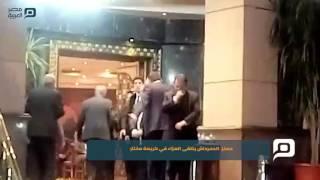 مصر العربية | معتز  الدمرداش يتلقى العزاء في كريمة مختار