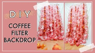 DIY Coffee Filter Backdrop | DIY Fall Decor