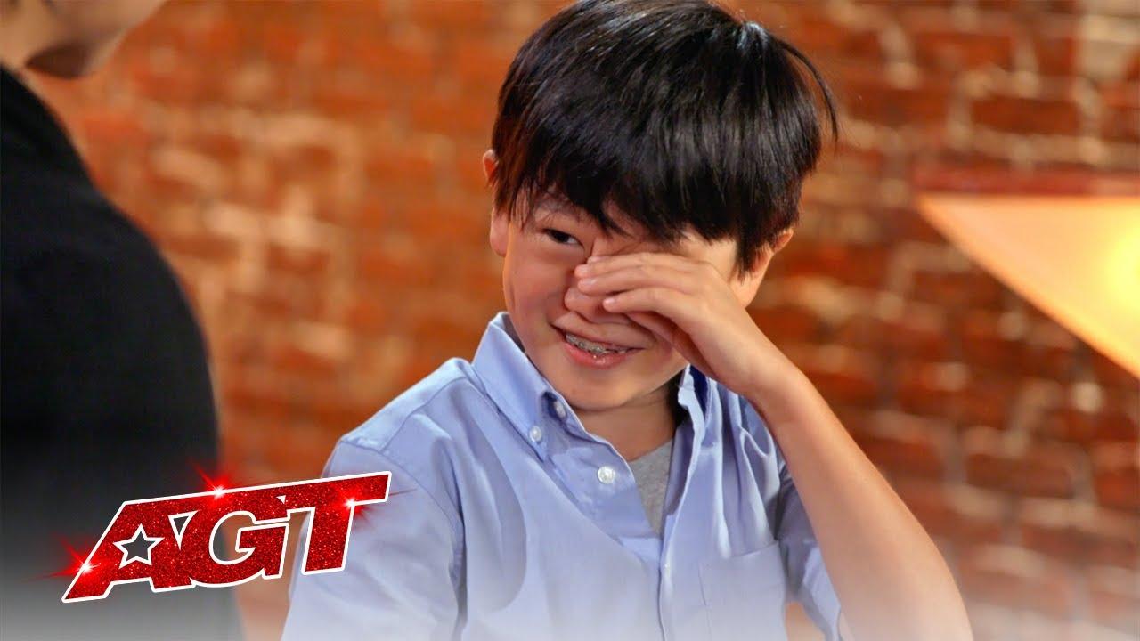 #Shorts | Shoji Gets Emotional During Shin Lim Surprise | America's Got Talent 2021