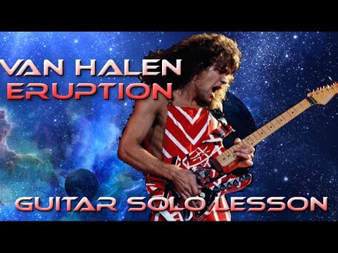 How to play 'Eruption' by Van Halen Guitar Solo Lesson w/tabs
