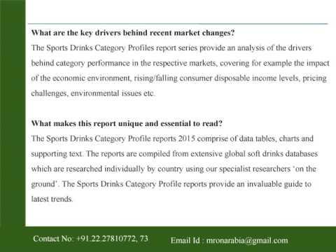 Saudi Arabia Sports Drinks Category Profile – 2015