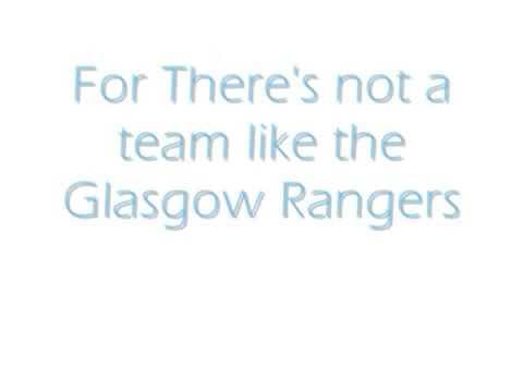 Glasgow Rangers Follow Follow lyrics