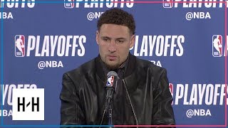 Klay Thompson Postgame Press Conference | Spurs vs Warriors - Game 2 | 2018 NBA Playoffs
