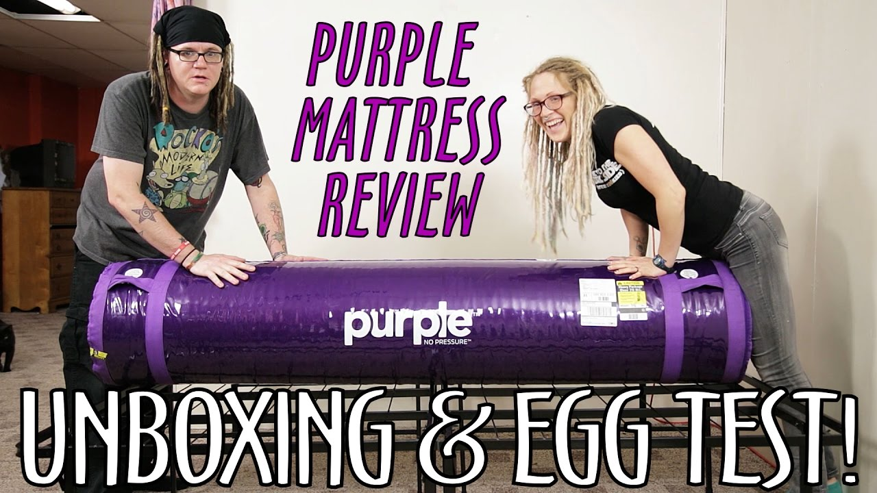 purple mattress unboxing review egg test what what youtube. Black Bedroom Furniture Sets. Home Design Ideas