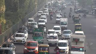 Metro train, cars DTC buses, autorickshaws, motorcycles, ambulances race for space in Delhi