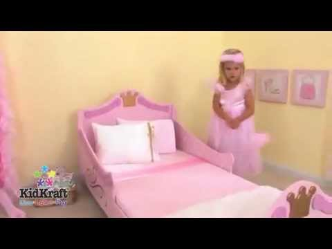 princess toddler bed kidkraft girls pink - youtube