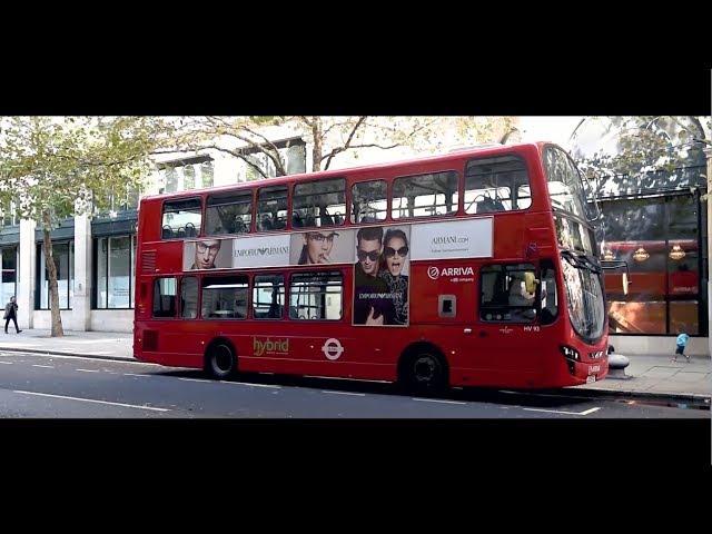 #EALiveInLondon - Double decker buses wrapped in Emporio Armani