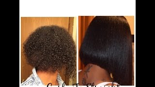 How To Get Natural Hair Bone Straight Without Using Relaxers